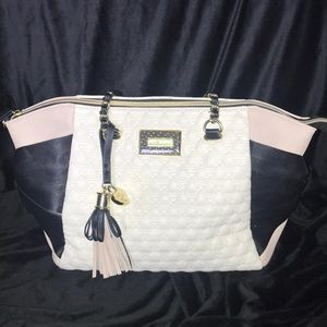 Betsey Johnson Quilted Side Pockets Sachel / Tote